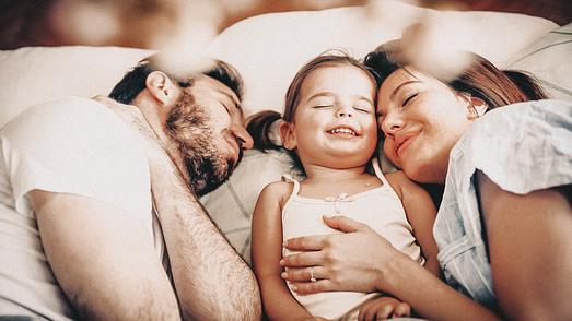 Friedliches Familienleben